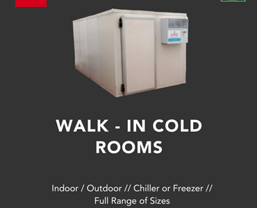 Product Spotlight: Lowe Cold Rooms – Large Range of Sizes. Outdoor/Indoor and In Stock now.